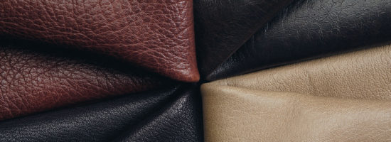 Colourful leather sample for tannery industry